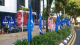 Headquarters of MCA party, BN coalition member, on election day